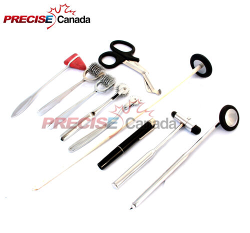 10 PCS NEUROLOGICAL PERCUSSION REFLEX TAYLOR BUCK HAMMER PINWHEEL DIAGNOS DS-912