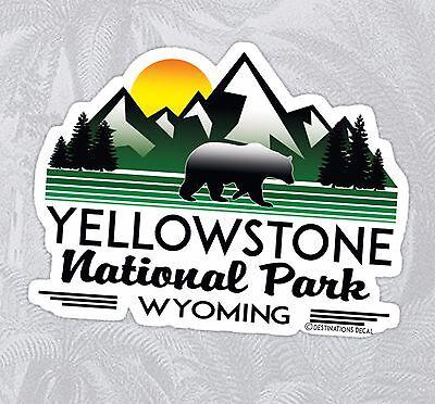 Yellowstone National Park Wyoming Decal Sticker Vinyl Mountains 3 9  X 3