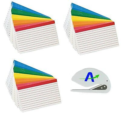 3 Packs Oxford Color Coded Ruled Index Cards 3 X 5 Assorted Colors 100 Per...