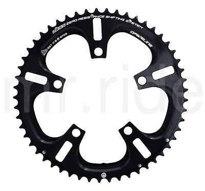 DRIVELINE Chainring Road Bike 53T 7075/T6 BCD 110MM Black,for 53/39T,11 Speed