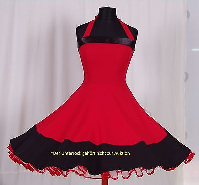 Kleid 50-er Jahre zum Petticoat Rockabilli Abend Abiball Partykleid Gr.38-42 rot