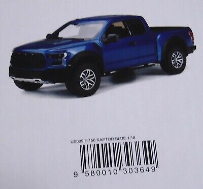 GT SPIRIT Boxed DIE-CAST TRUCK 1:18  2017 FORD RAPTOR IN LIGHTNING BLUE US009