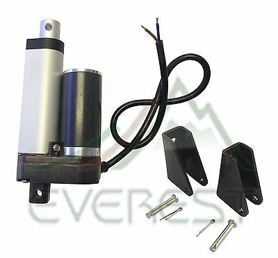 Heavy Duty Linear Actuator 2  Stroke 225Lb Max 12V W  Angle Mounting Brackets