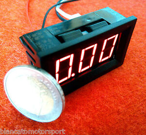 Amperometro-Pannello-DC-0-10A-LED-ROSSO-misuratore-corrente-tester-camper-solari