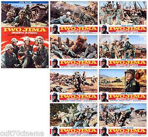 SANDS OF IWO JIMA SET FOTOBUSTA 8+1 PZ JOHN WAYNE AGAR DWAN WAR 1949 LOBBY CARD - roma, RM, Italia - L'oggetto può essere restituito - roma, RM, Italia