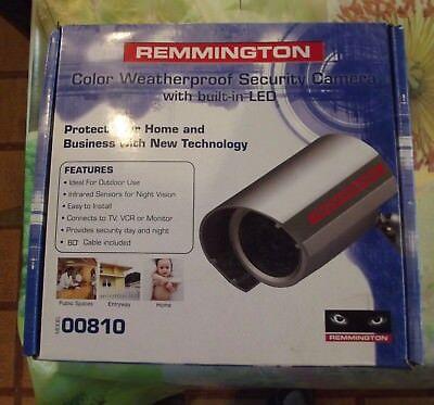 Remmington Color Weatherproof Security Camera with built-in Led neuf en boîte