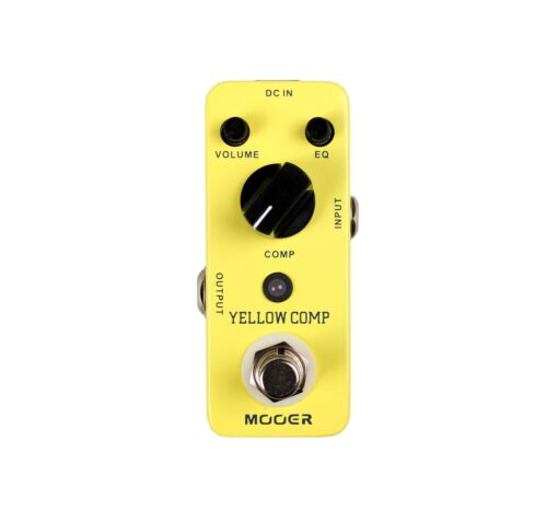 New Mooer Yellow Comp Compressor Guitar Effects Pedal