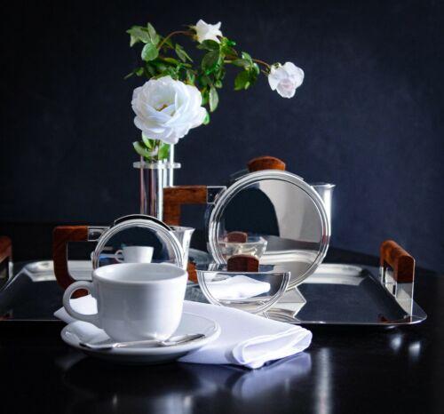 Art Deco Number 1925 Christofle Silverplate and Ebonized Wood Tea Set