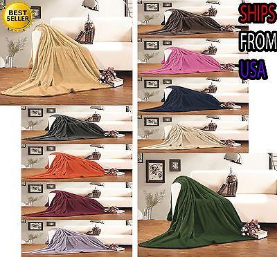 Micro-Fleece Ultra Plush Luxury Solid Blanket,Twin,Full,Queen,King