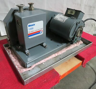 C176293 Welch 1399 Duoseal Vacuum Pump 115vac 13hp