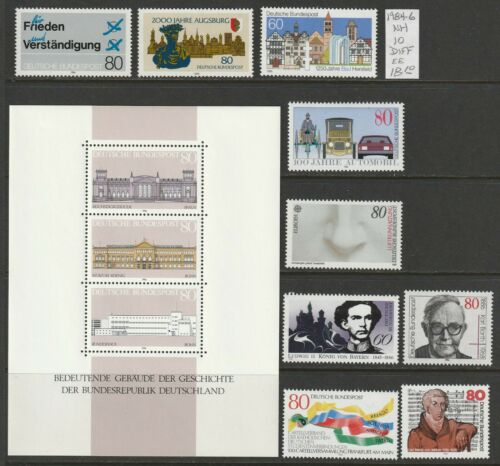 Germany 1984-6 NH 10 diff Commemorative 2018 cv 18.10 Lot EE