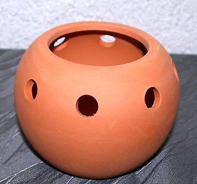 Dekoration Basteln Terracotta Windlicht-Kugel 13 cm d  10 cm h Deko Kugel