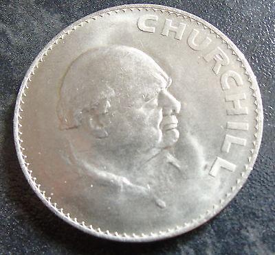 1965 Winston Churchill Commemorative Five Shilling Coin 1 Crown coin Elizabeth