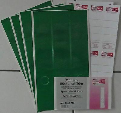 Ordner Rückenschilder grün selbstklebend 12 St Fenster Loch Kartonschild. 60 mm