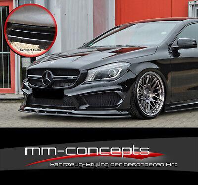 CUP Spoilerlippe SCHWARZ Mercedes CLA W176 45 AMG Frontspoiler Spoilerschwert