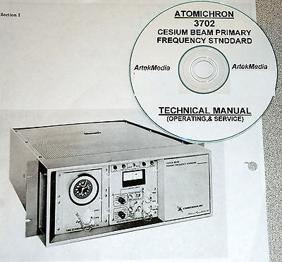 Atomichron 3702 Cesium Standard Ops Service Manual