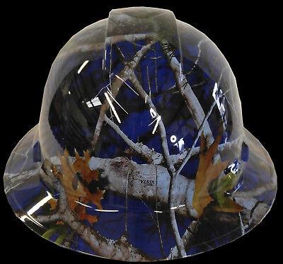 Hard Hat Full Brim Dark Blue Vista Camo w/ Free BRB Customs T-Shirt