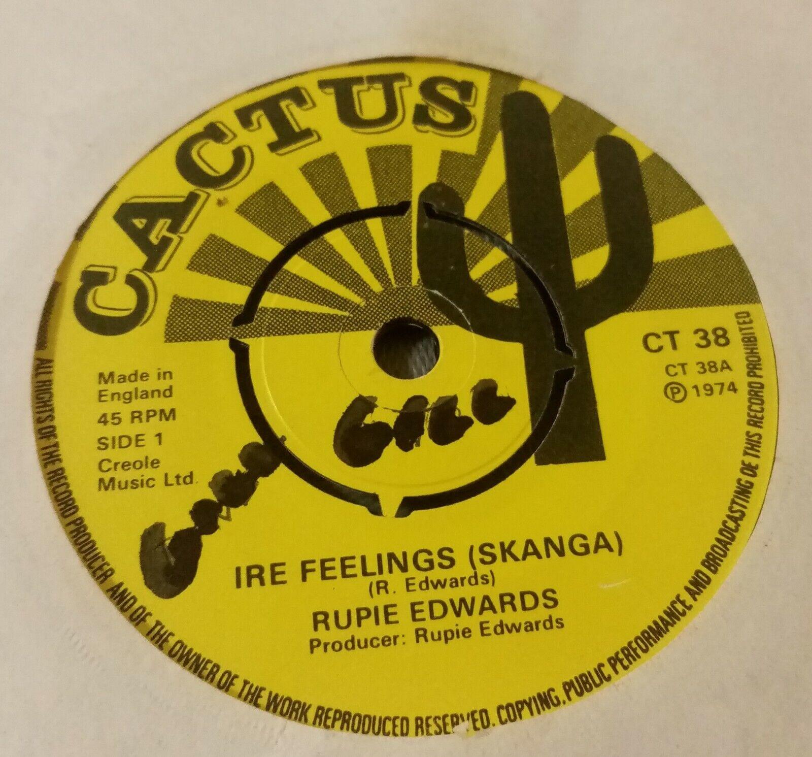 "Rupie Edwards - Ire Feelings ( Skanga) Used 7"" single record"