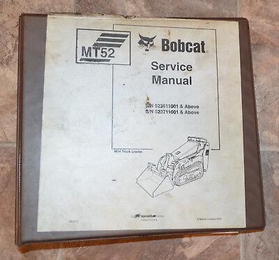 Bobcat Service Repair Manual Mt52 Mini Track Loader 6902525