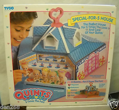 Dollhouse sealed MISB NEU New TYCO Toys Dolls 1989 Vintage QUINTS House for 5 Sonstige