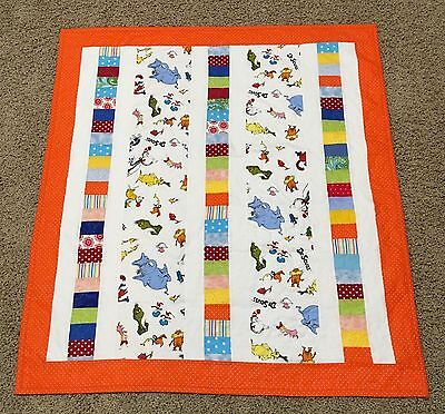 New Handcrafted Cotton Dr. Seuss Baby Quilt