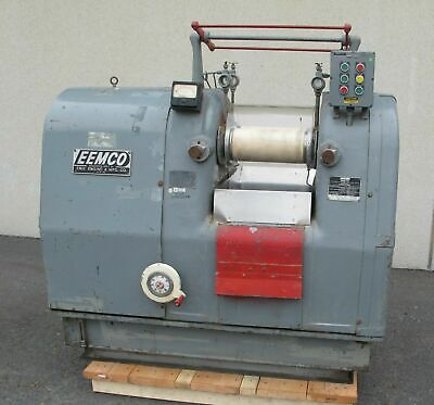 Eemco Two Roll Lab Mill 6 X 13 Ceramic Rolls Variable Speed Drive Made In Usa