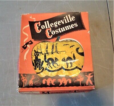 1950's COLLEGEVILLE COSTUMES, WITCH W/BOX, CHILD'S CAPE & SKIRT, NO MASK