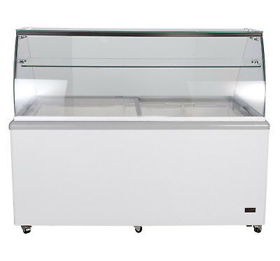 Chefs Exclusive 71 Commercial Ice Cream Dipping Cabinet Display Freezer 12 Tub