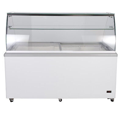 Jet 70-inch 12 Tub Flavor Led Commercial Ice Cream Dipping Cabinet Freezer Jdc12