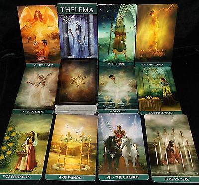 SEALED & BRAND NEW! THELEMA TAROT CARD & BOOK ORACLE RENAISSANCE THEME & WISDOM