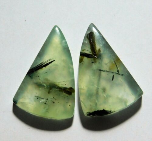 42.35 Cts Natural Prynite (28mm X 18mm each) Cabochon Match Pair