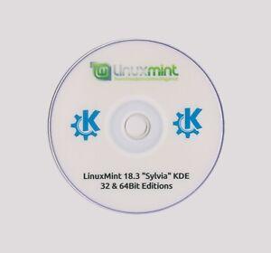 LINUX MINT 18.3 KDE LIVE 32 & 64Bit Discount & Multi Distro Discs Available 99p
