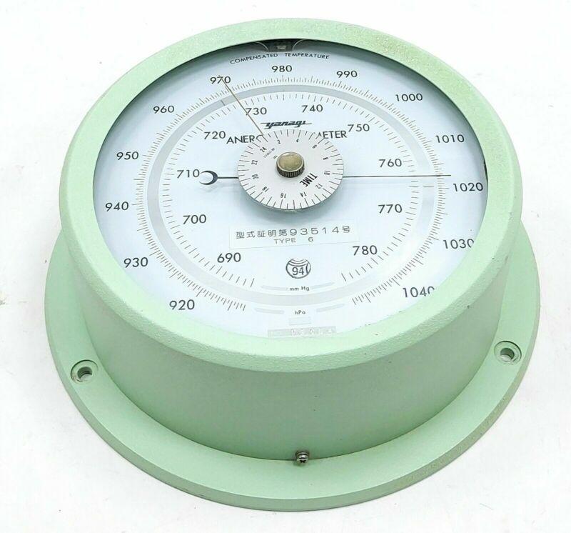Yanagi Type 6 Marine Barometer compensated temperature and acceleration