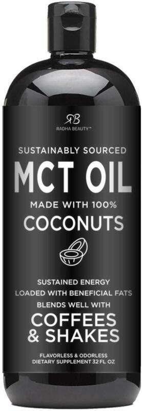 Premium MCT Oil Made only from Coconuts - 32oz BPA Free Bott