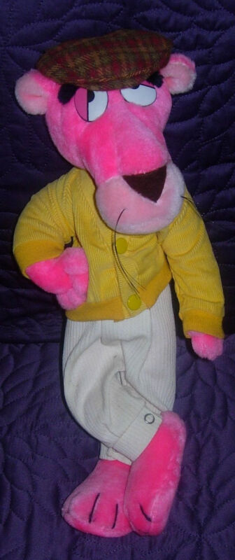 VINTAGE  PINK PANTHER PLUSH  MIGHTY STAR  1980  15""