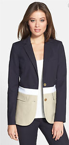 Michael Kors Colorblock Two-Button Blazer NWT