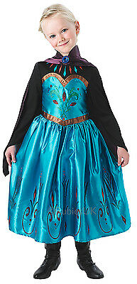 Mädchen Disney Eiskönigin Krönung Elsa Prinzessin Büchertag Kostüm Kleid (Prinzessin Elsa Krönung Kostüm)