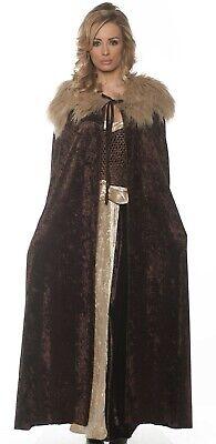 Brown Medieval Cloak Cape Adult Womens Sansa Game of Thrones Renaissance](Game Of Thrones Cloak)