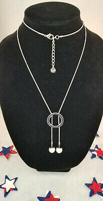 Alfani Imitation Pearl Circle Lariat Necklace Faux Pearl Rope