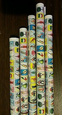 5 roll Clement MINI Mexican Loteria Bingo Paper Roll for Boards, Fiestas Parties (Bingo Party)