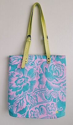 AMY BUTLER FOR KALENCOM LADIES   FLORAL PRINT BAG TOTE HARDLY USED COST £104