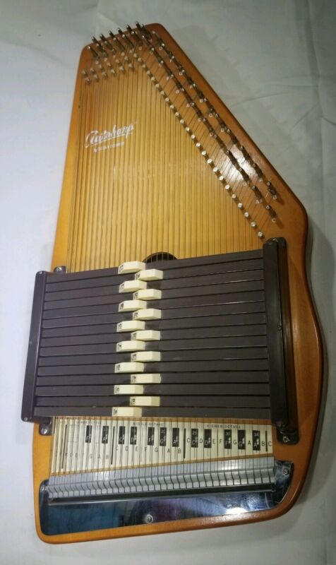 VINTAGE AUTOHARP TABLE TOP BY OSCAR SCHMIDT 15 BUTTON 36 STRING SN