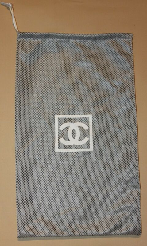 "CHANEL Logo Drawstring Dust Bag Shoes Storage Cover 7 3/4"" x 12 1/2"""