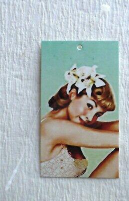 100 Hang Tags Price Tags Clothing Tags Vintage Girl Fashion Tags Plastic Loops