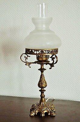 Jugendstil Tischlampe Antik Tischleuchter Bronze Leuchter Art Nouveau Table Lamp