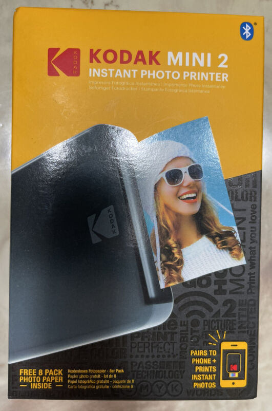 Kodak Mini2 Portable Photo Printer—  8 Paper Pack Included! BRAND NEW Sealed 🔥