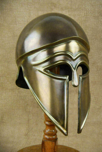 Medieval Greek Corinthian Knight Helmet Armor Great Armour Helmet Sac Larp