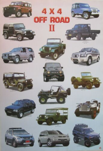 4 x 4 OFF ROAD II POSTER FROM ASIA: SUV,Jeep,Land Cruiser,Wrangler,CRV,Wrangler