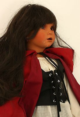 30-Inch Tall Little Red Riding Hood La Caperucita Roja Porcelain Doll