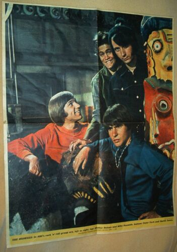 The Monkees - Philadelphia Inquirer 21.5 X 27 Poster from the April 7,1968 issue